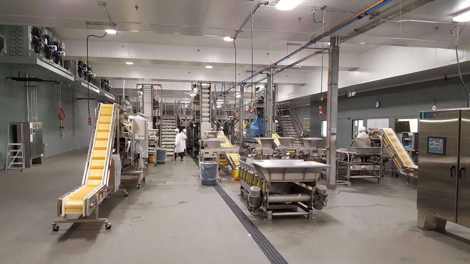Production floor, Inventure Foods at Bellingham Cold Storage, Chad Fisher Construction