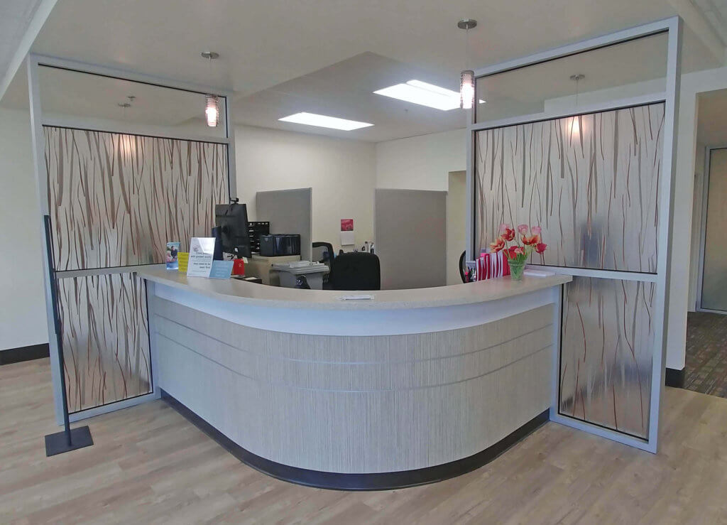 island hospital walk-in reception desk