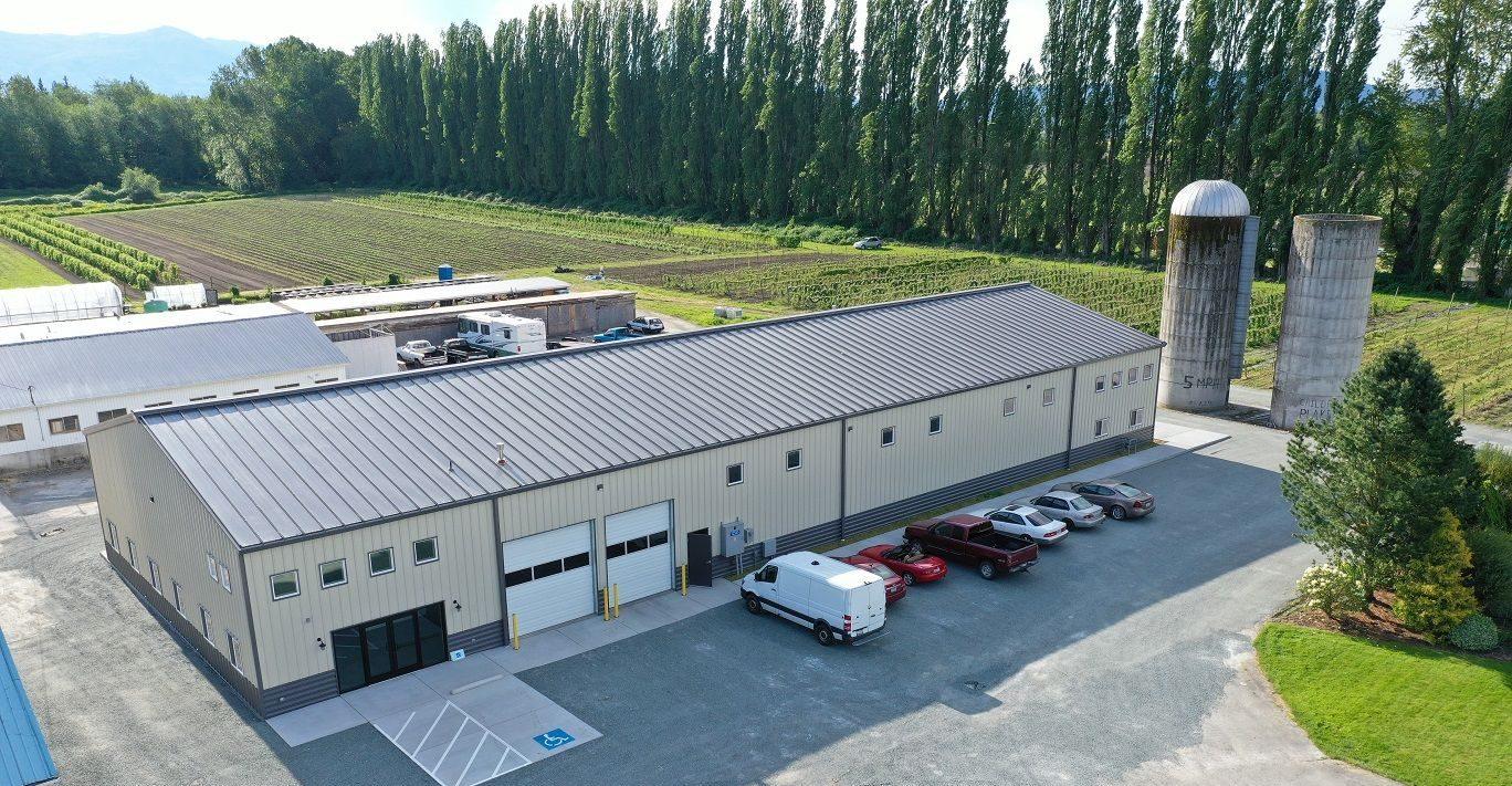 Northwest Wild Foods - Aerial Exterior - Chad Fisher Construction
