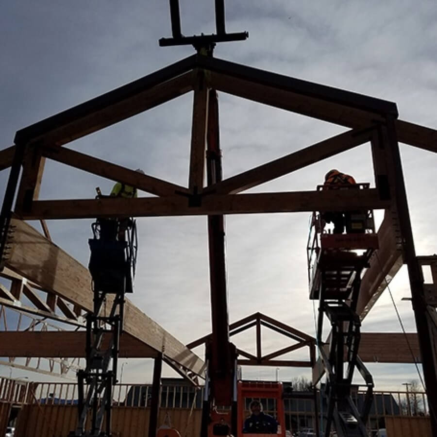 Holiday Market Trusses Go Up